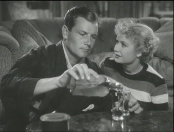 Joel McCrea as Tony with Miriam Hopkins pretending to be Sylvia