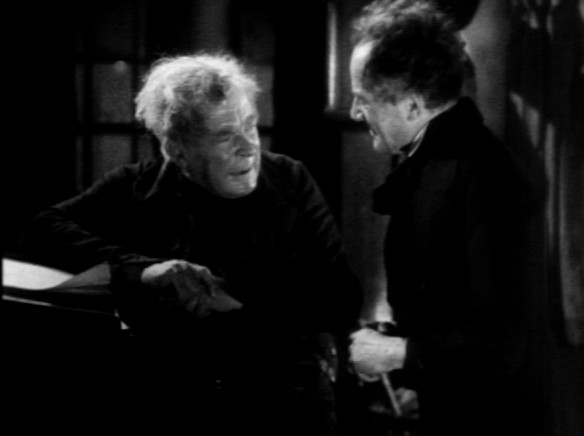 Scrooge with Donald Calthrop as Bob Cratchit